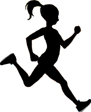 Free Silhouette Of Woman Running, Download Free Clip Art.