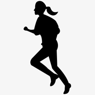 Running Woman Silhouette Png Clip Art Image Gallery.