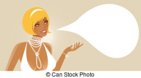 A Woman Speaking Clipart.