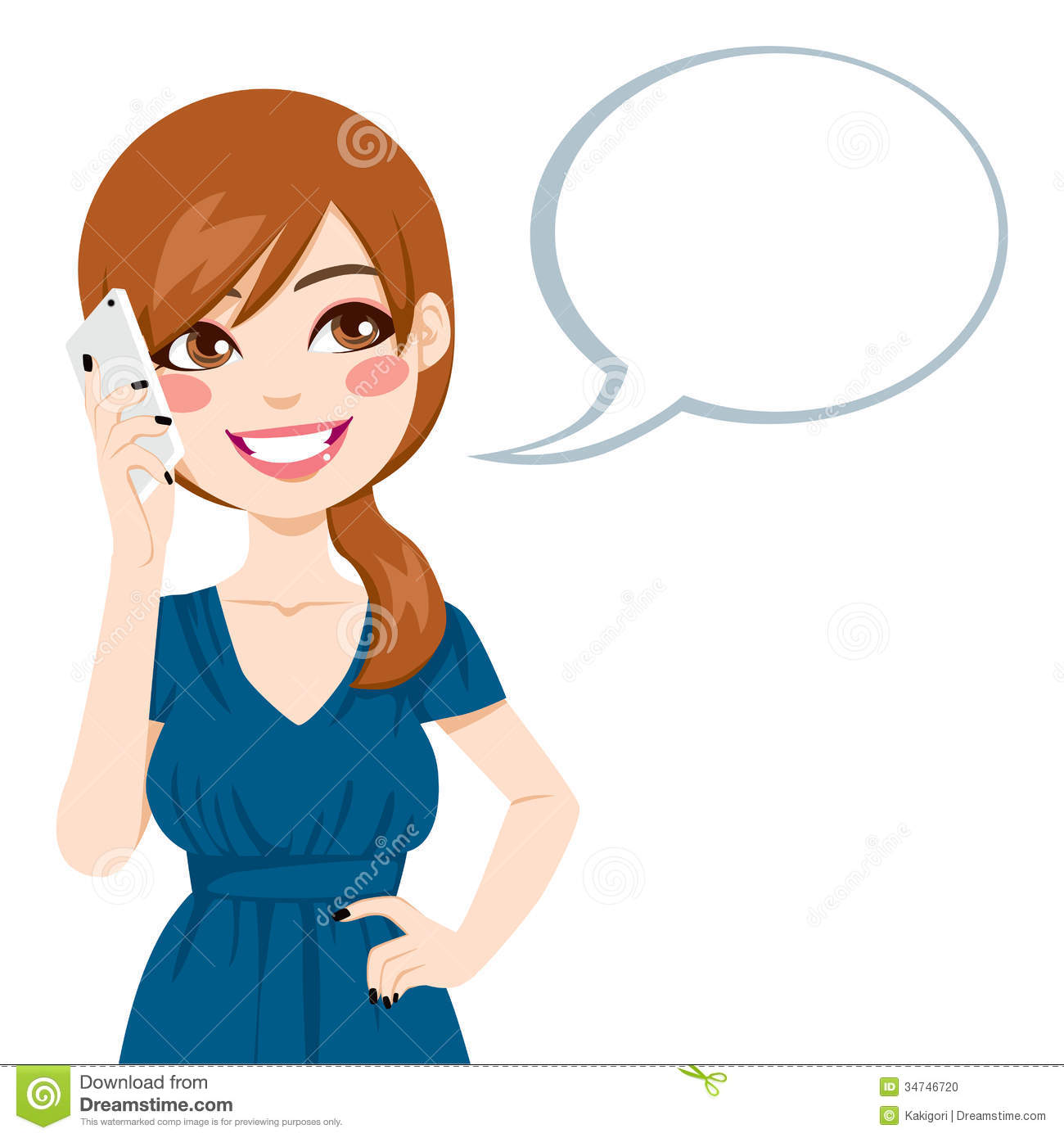 Woman Speaking Clipart.