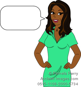 A Woman Clipart Speaking.