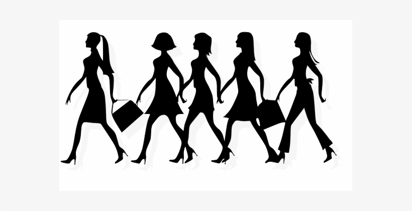 Women Ladies Females Girls Walking Black S.