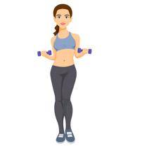 Clip Art Women Walking Workout Clipart.