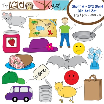 Cvc Word Clipart Worksheets & Teaching Resources.