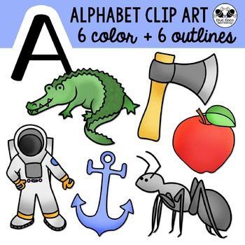 Letter A Clip Art Alphabet / Beginning Sounds Freebie.