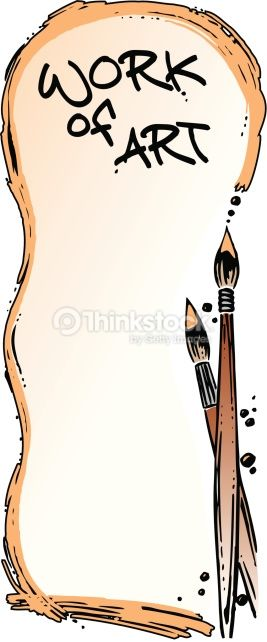 Paint Brush Clip Art Borders.