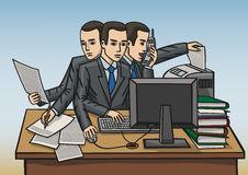 Workaholic Stock Illustrations.
