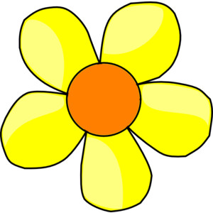 Yellow flower clip art.
