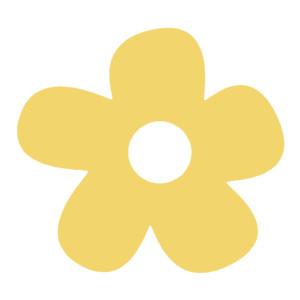 Big Yellow Flower Clip Art.