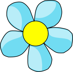 Blue And Yellow Flower Clipart.