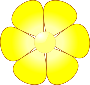Free yellow flower clipart.