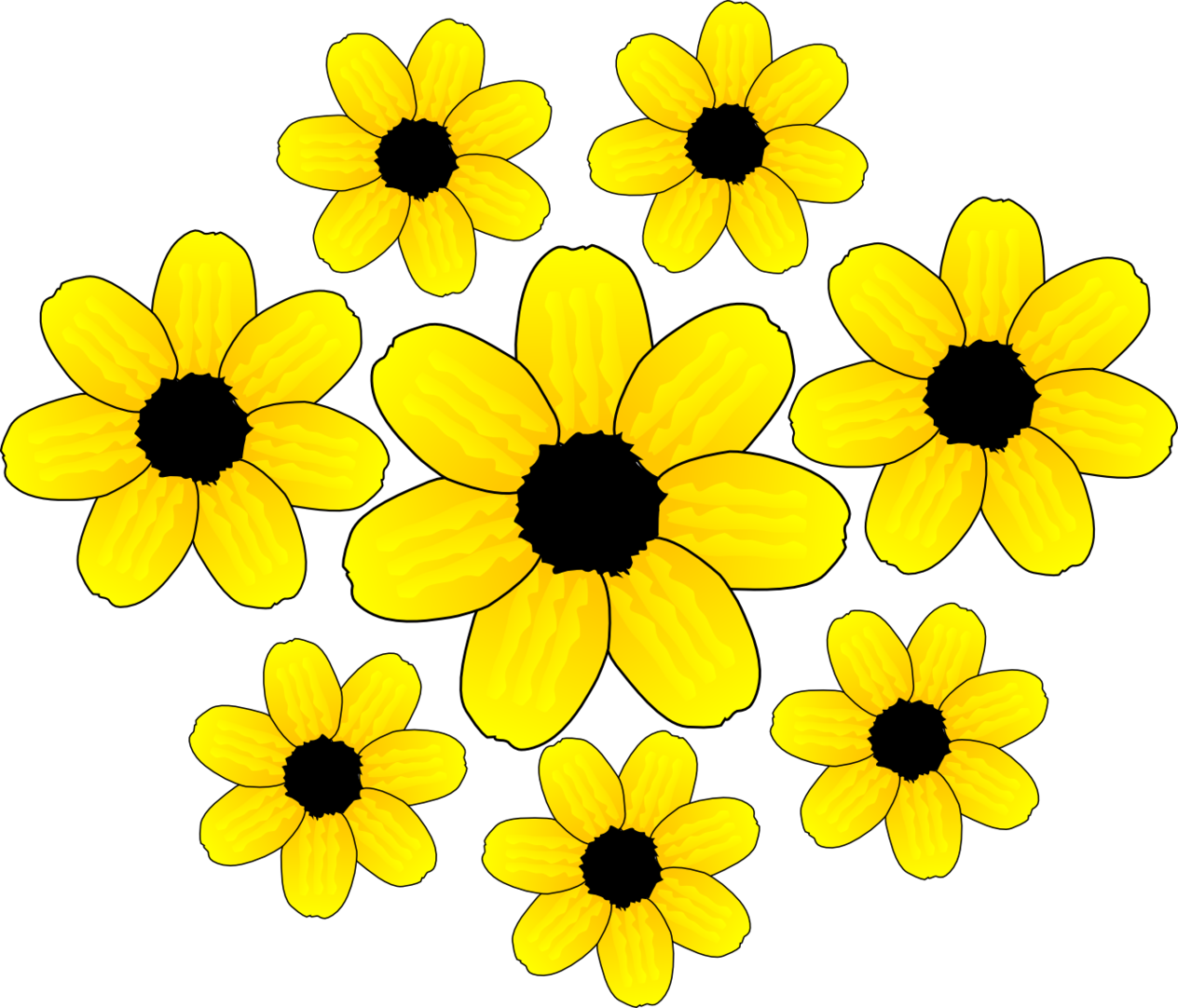 Showing post & media for Yellow flower cartoon.