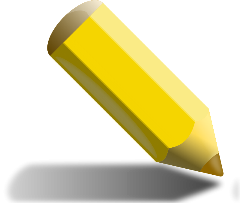 Free Clipart: Yellow Pencil.