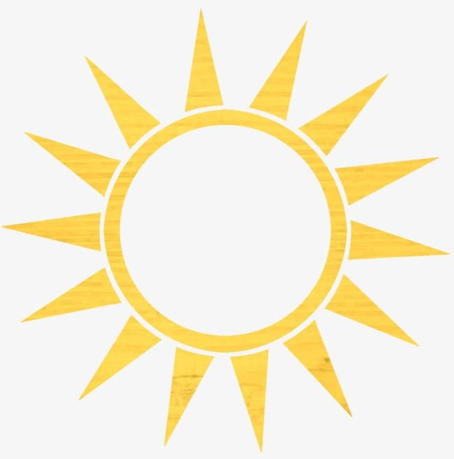 Yellow Sun PNG, Clipart, Hand Painted, Hand Painted Sun, Sun.