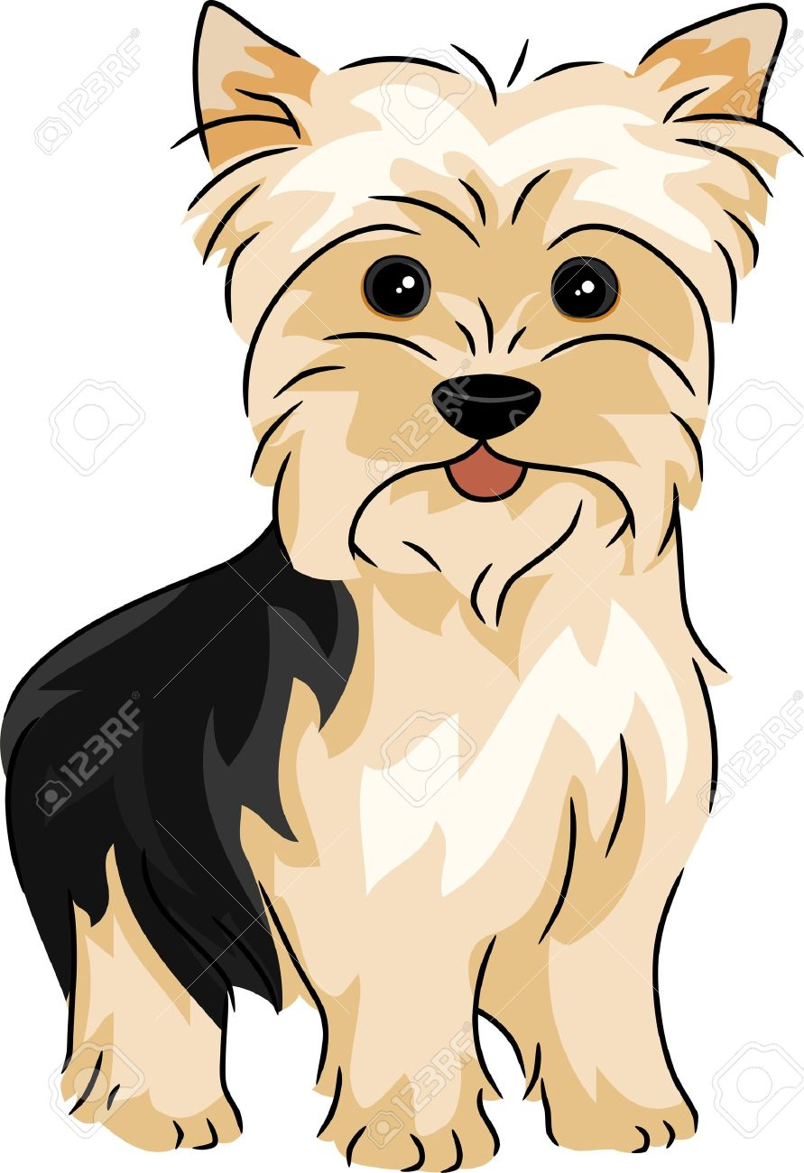 Yorkshire terriers dog clipart.