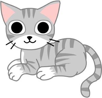 Domestic cat clipart #1
