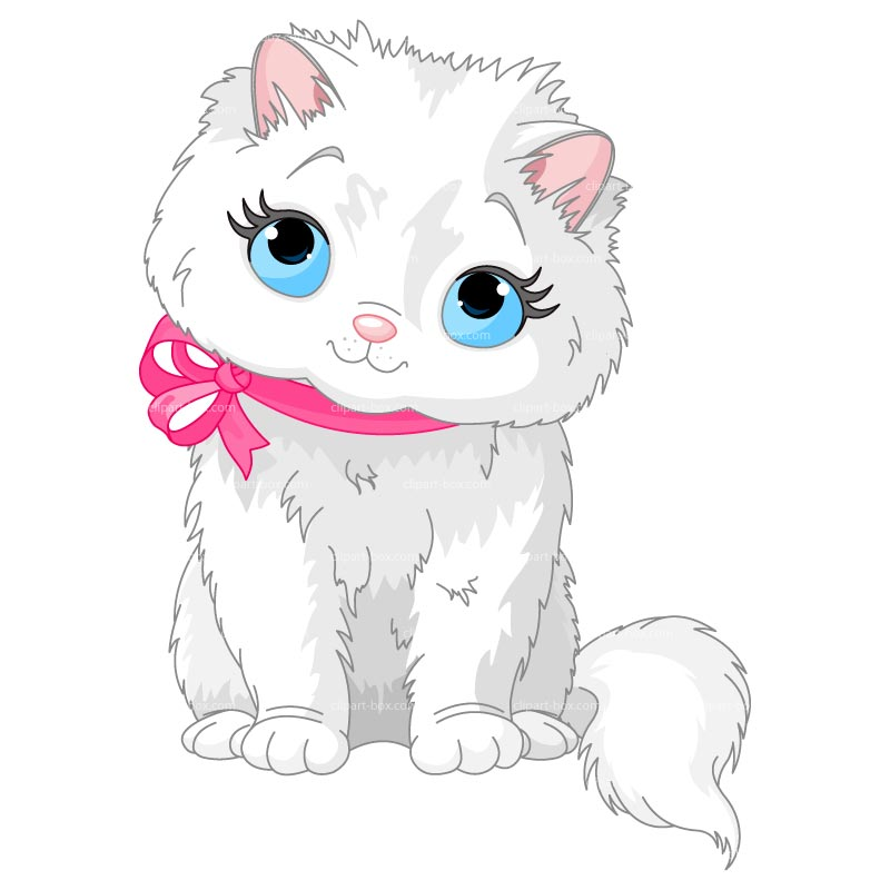 CLIPART FLUFFY CAT.