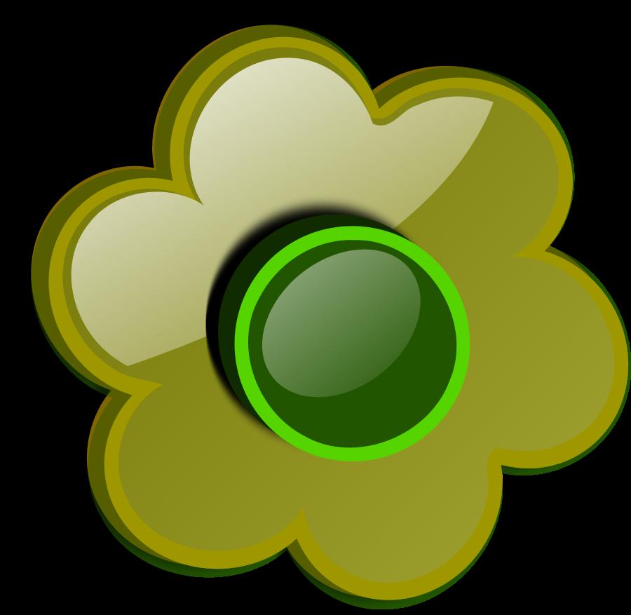 Flower Green 10 SVG Vector file, vector clip art svg file.