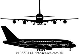 Airbus a380 Clip Art EPS Images. 11 airbus a380 clipart vector.