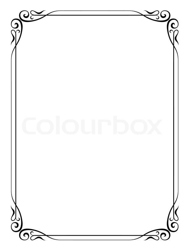 Simple Frame Clipart.