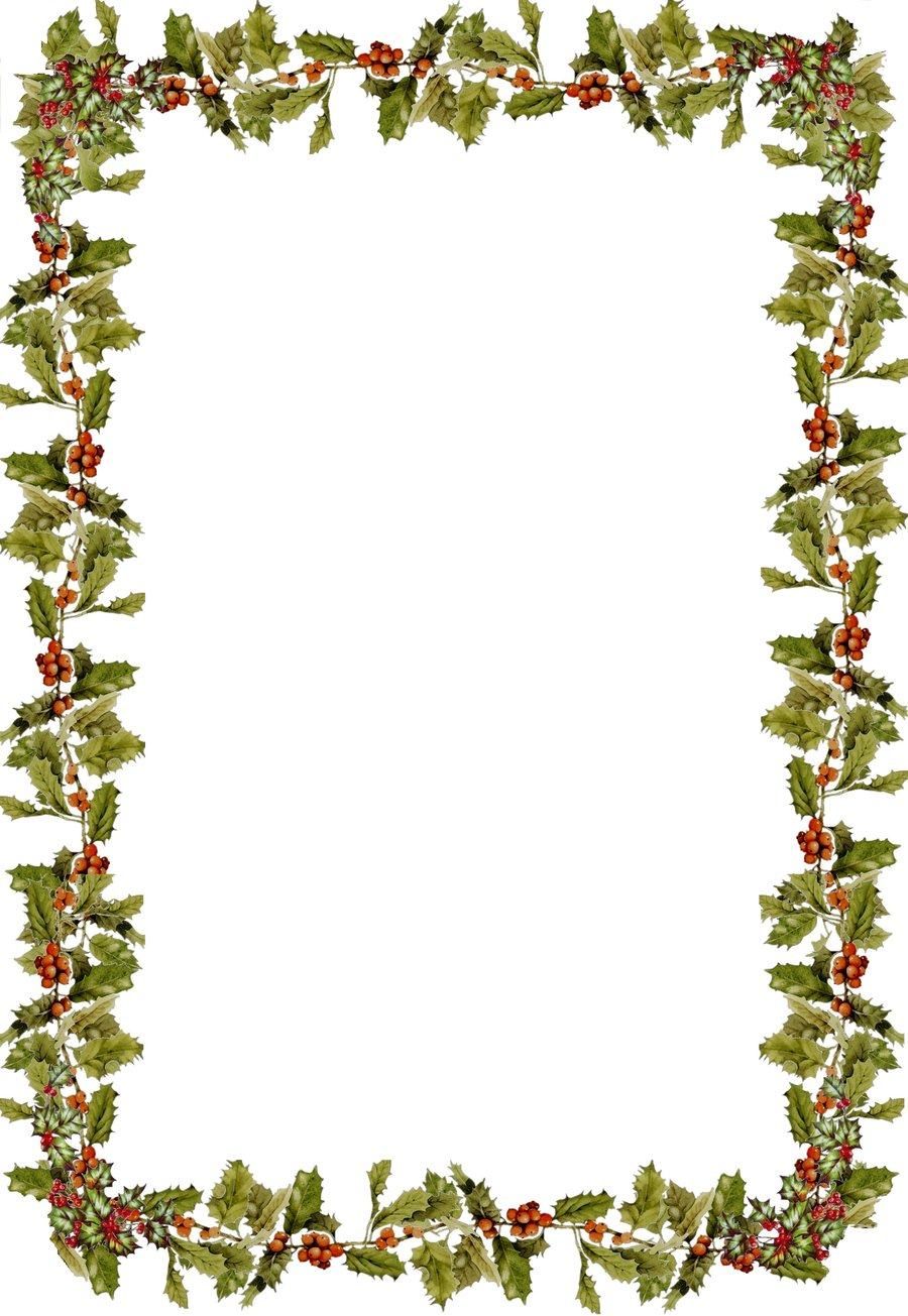 Holly borders clip art free.