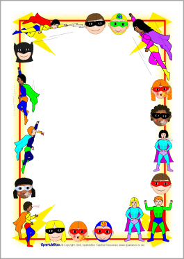 Superhero Border Clipart.