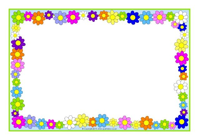 Flowers and Plants editable A4 page borders.