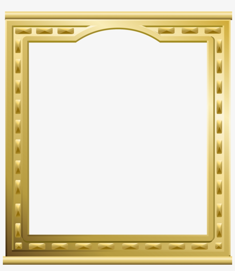 Gold Frame A4 Clipart Picture Frames Gold Decorative.