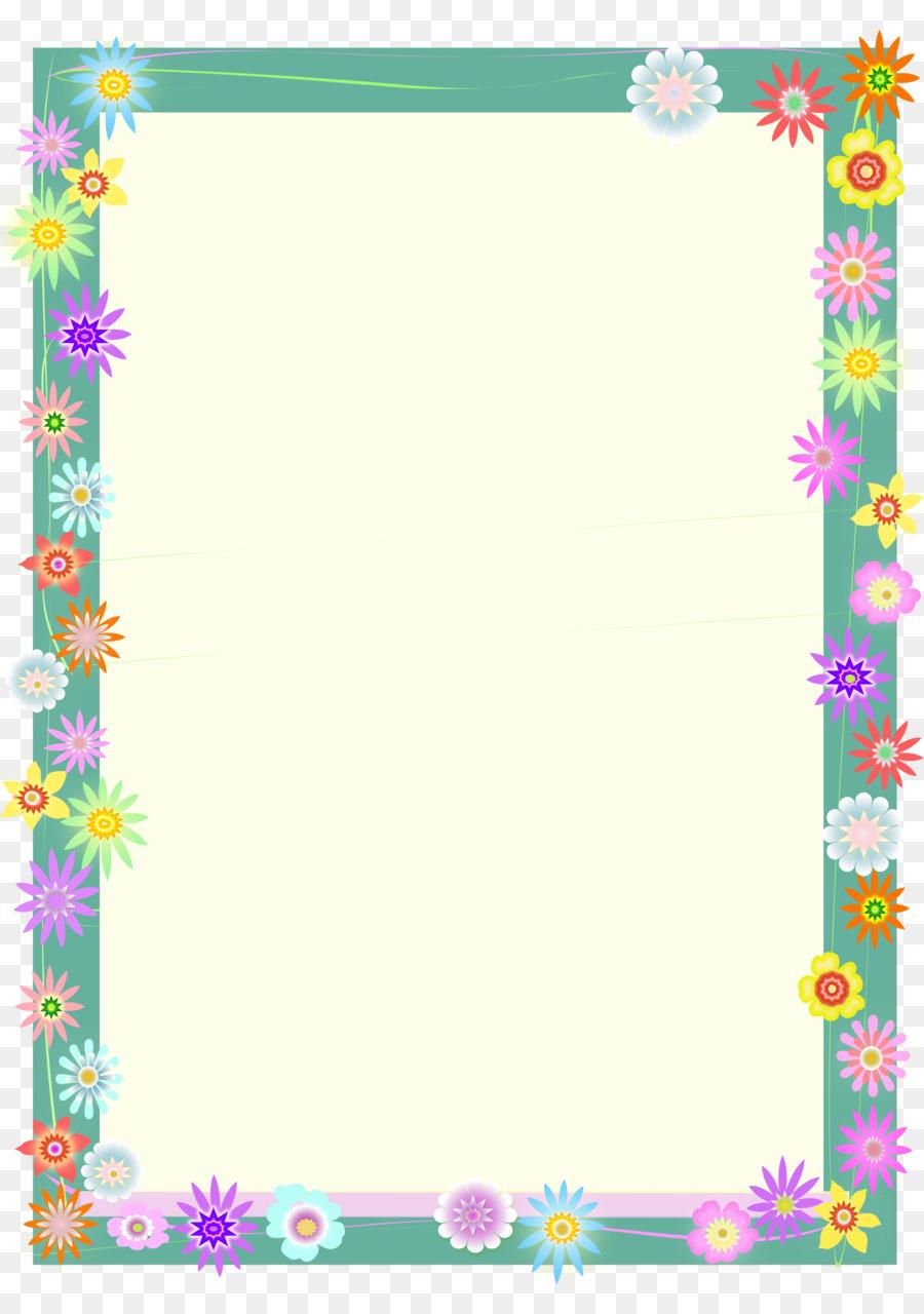 Flower Border Background png download.
