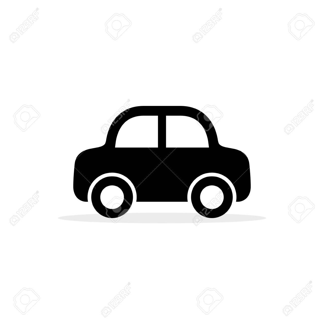 Car Icon, Vector Flat Simple Cartoon Transportation Symbol Isolated.