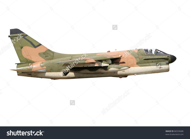 Vietnam Era Camouflaged A7 Corsair Fighter Stock Photo 86559688.