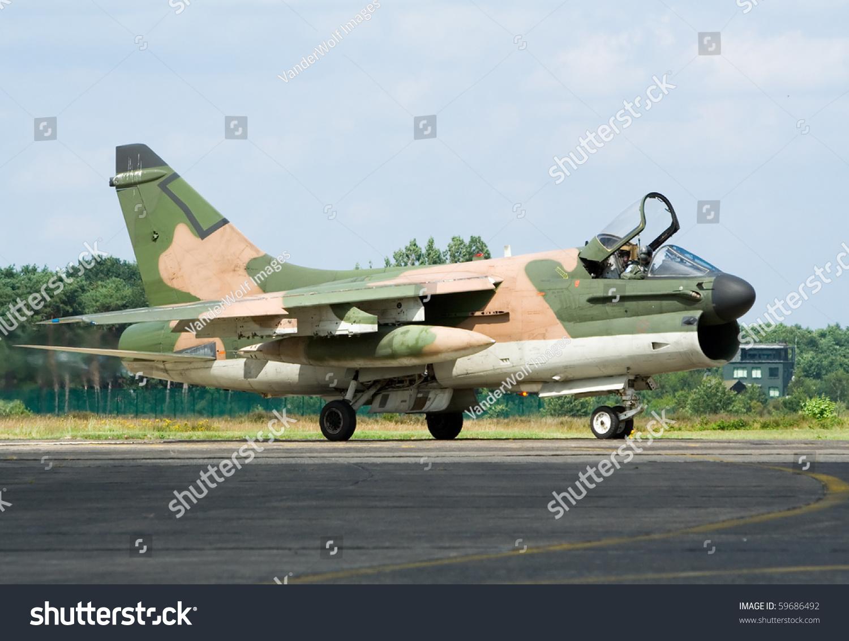 Vietnamera A 7 Corsair Fighter Jet Stockfoto (Jetzt bearbeiten.