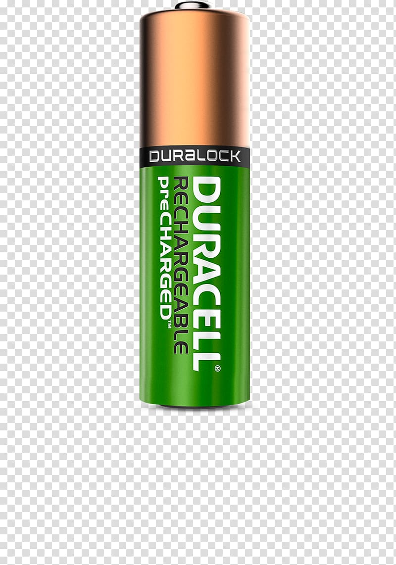 Rechargeable battery Duracell AA battery, Battery transparent.