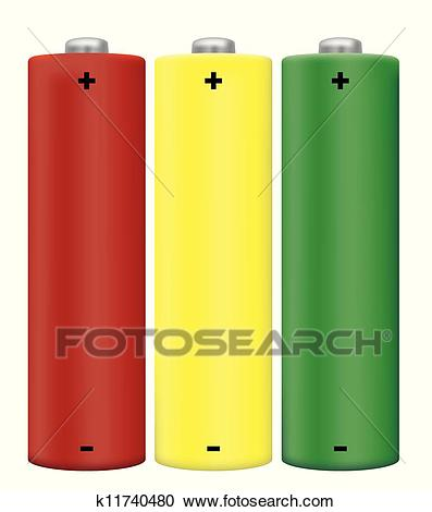 AA Battery Clipart.