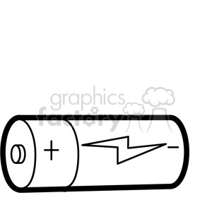 black white cartoon battery illustration graphic clipart. Royalty.