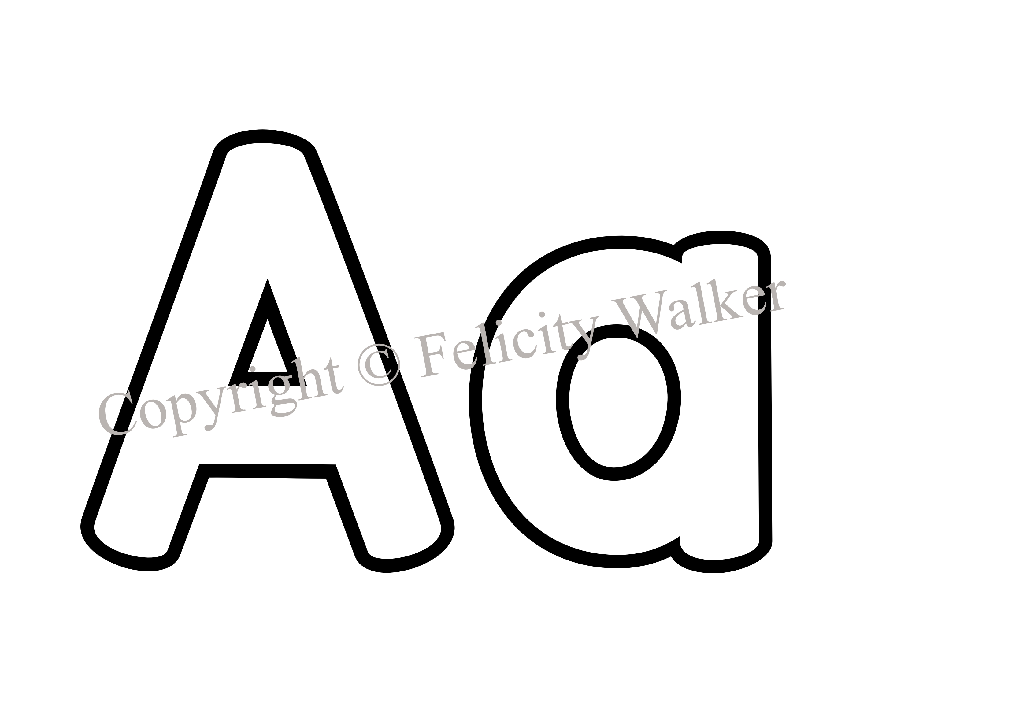 Letter aa clipart black and white 5 » Clipart Station.