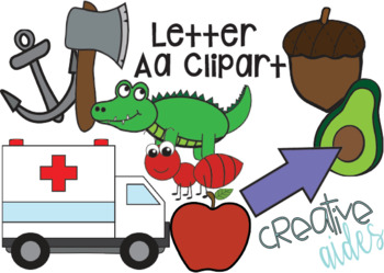 Letter Aa Clipart.