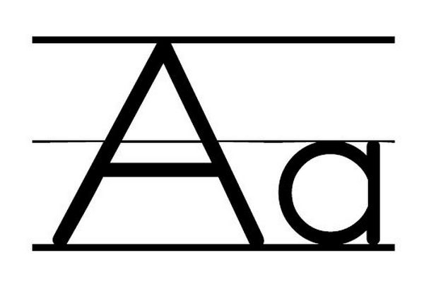 Letter aa clipart black and white 2 » Clipart Station.