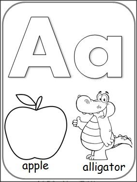 Letter+A+Alphabet+Card+for+Coloring..