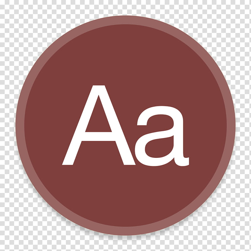 Button UI System Icons, Dictionary, Aa logo transparent background.