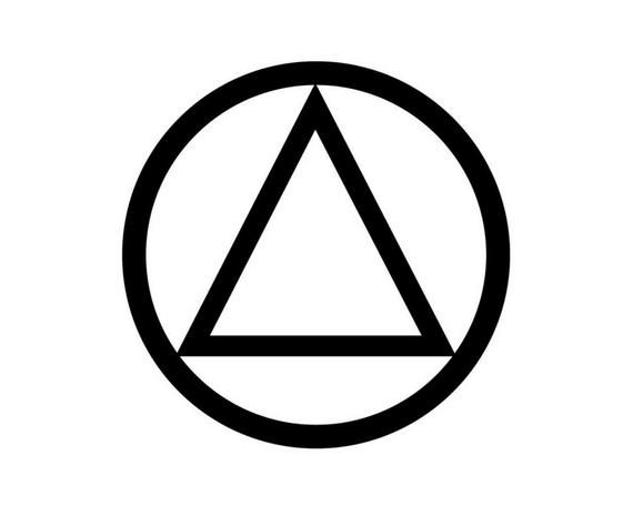 Alcoholics Anonymous Symbol of Recovery.