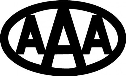 AAA logo Clipart Graphic.