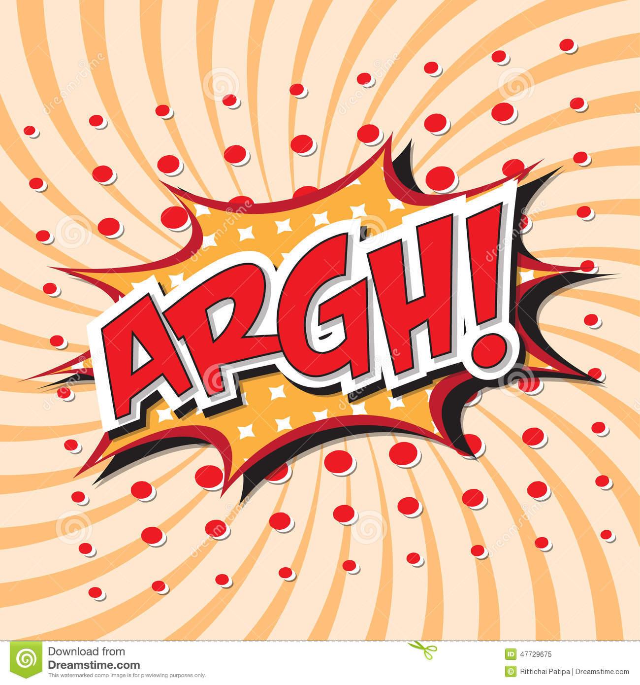 ARGH! Comic Word Stock Vector.