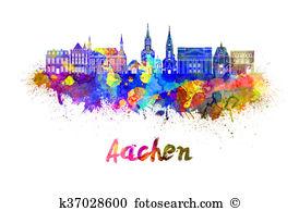 Aachen Clip Art and Stock Illustrations. 28 aachen EPS.
