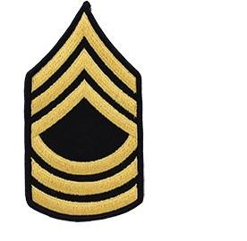 Master Sergeant Dress Blue Rank.