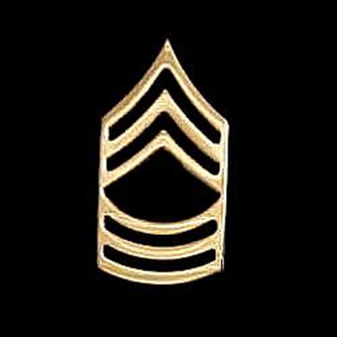 Ar Enlisted Chevron 24k Goldmstr Sergeant.