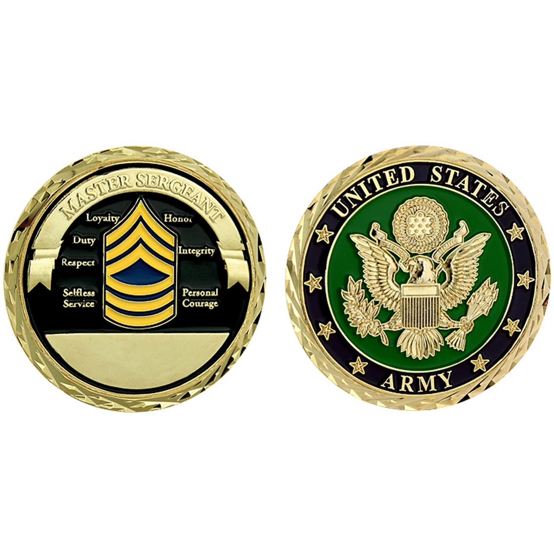 Challenge Coin U.s. Army Seal Rank Master Sergeant Coin.