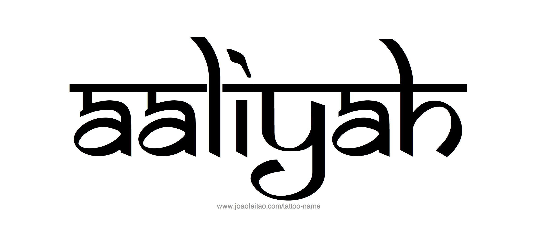 Aaliyah Name Tattoo Designs.