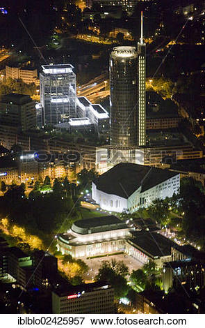 """Picture of """"Aerial view, RWE Tower, Aalto Theatre, Extraschicht."""