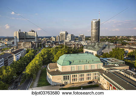 "Stock Photography of ""RWE Tower, EVONIK corporate headquarters."